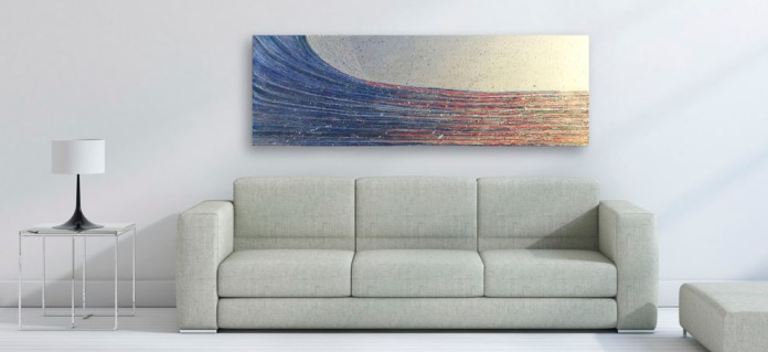 sofa with clean wall