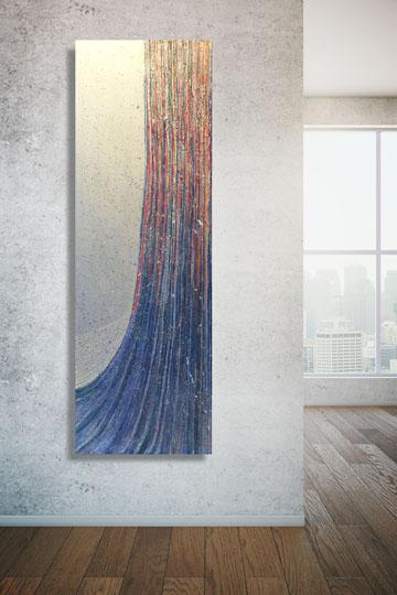 Blank wall closeup