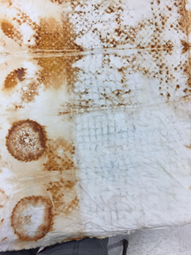 Step 1: Rust-dyed fabric